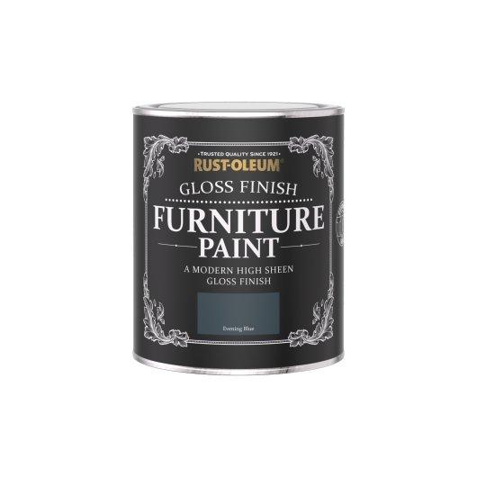 Rust-Oleum Gloss Furniture Paint Evening Blue 750ml