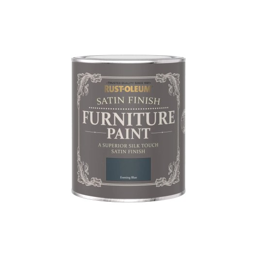 Rust-Oleum Satin Furniture Paint Evening Blue 750ml