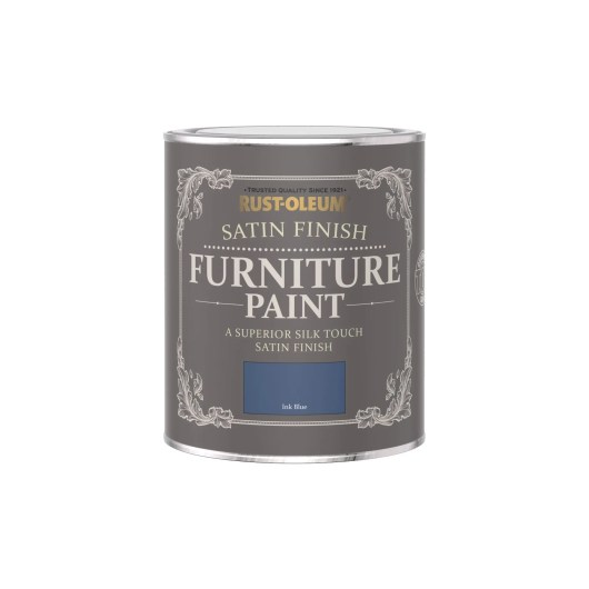 Rust-Oleum Satin Furniture Paint Ink Blue 750ml