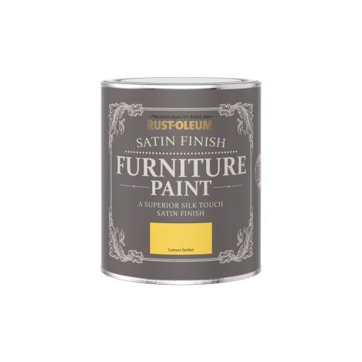 Rust-Oleum Satin Furniture Paint Lemon Sorbet 750ml