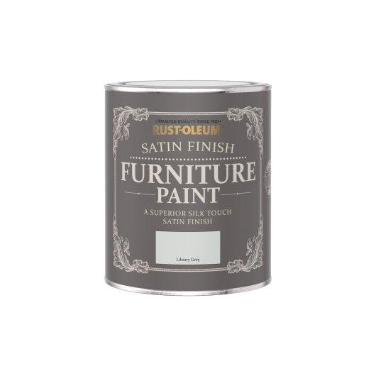Rust-Oleum Satin Furniture Paint Library Grey 750ml