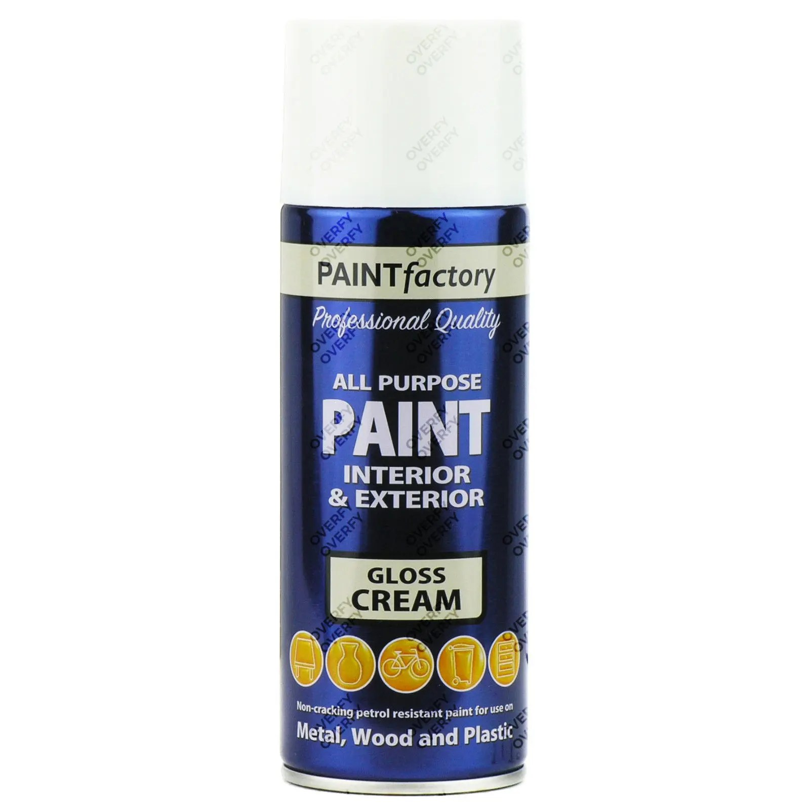 1-x-400ml-All-Purpose-Cream-Gloss-Aerosol-Spray-Paint-Household-Car-Plastic-371708424085
