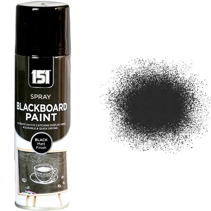 1-x-Blackboard-Spray-Paint-Bedroom-School-Room-250ml-Chalk-Board-Black-Matt-151-332294211510
