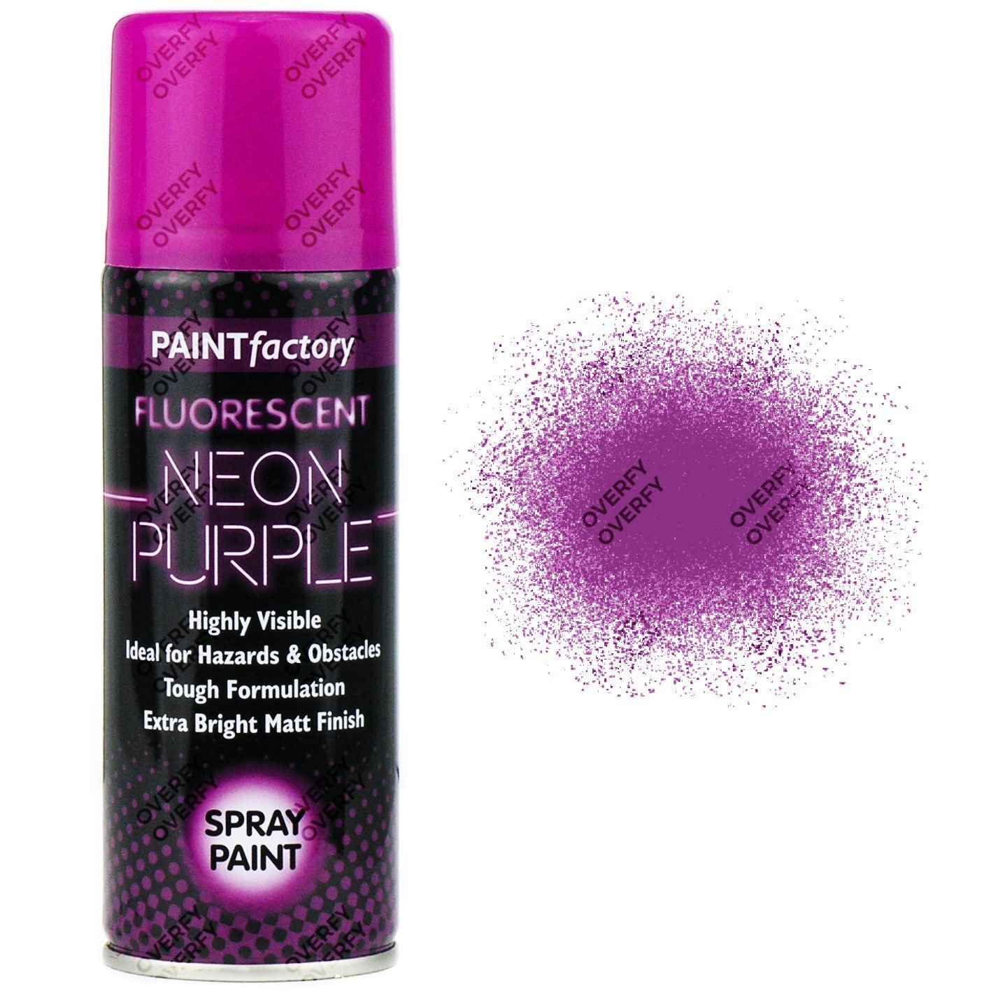 1-x-Fluorescent-Neon-Purple-Spray-Paint-Matt-200ml-Auto-Car-Creative-Paint-371848526853