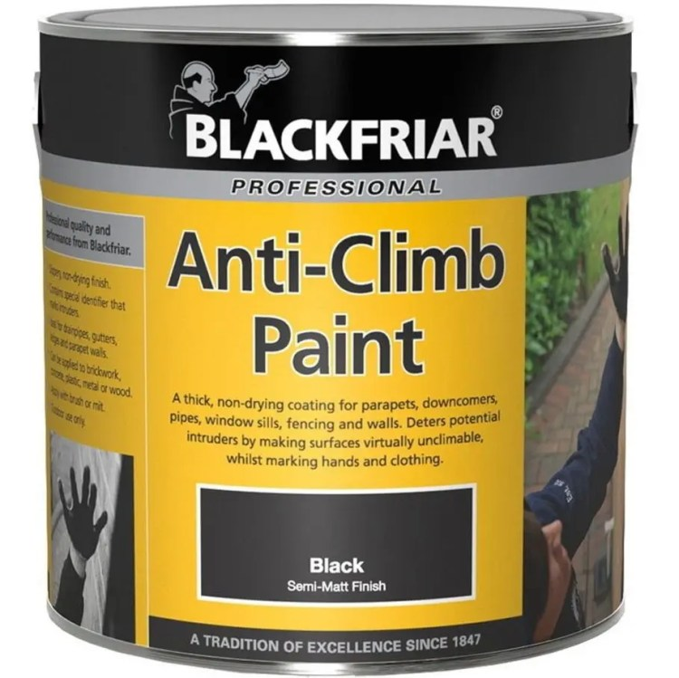 Blackfriar-Anti-Climb-Vandal-Intruder-Slippery-Black-Paint-Aids-Security-1L-391857722825