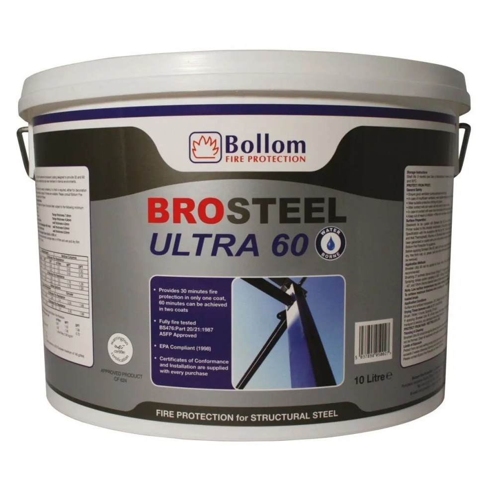 Bollom-Brosteel-Ultra-60-Fire-Resistant-Paint-For-Structural-Steel-White-10L-372230009763