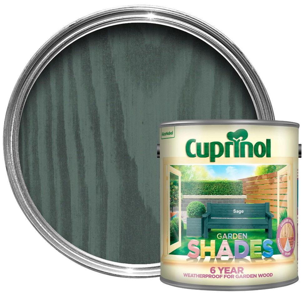 Cuprinol Sage 6 Year Garden Shades Paint Wood Furniture
