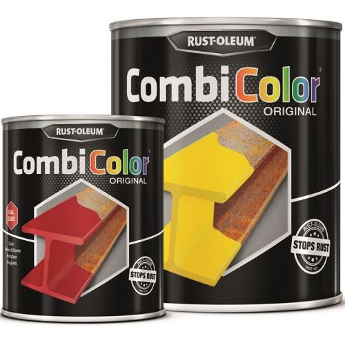 Direct-To-Metal-Yellow-Orange-Paint-Rust-Oleum-CombiColor-Original-Gloss-25L-391855435623