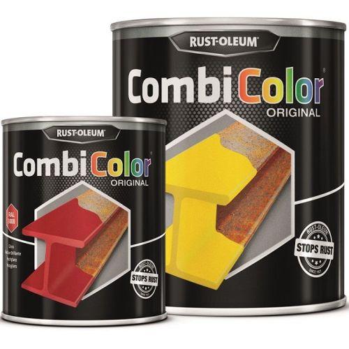 Direct-To-Metal-Yellow-Orange-Paint-Rust-Oleum-CombiColor-Original-Gloss-25L-391855435623