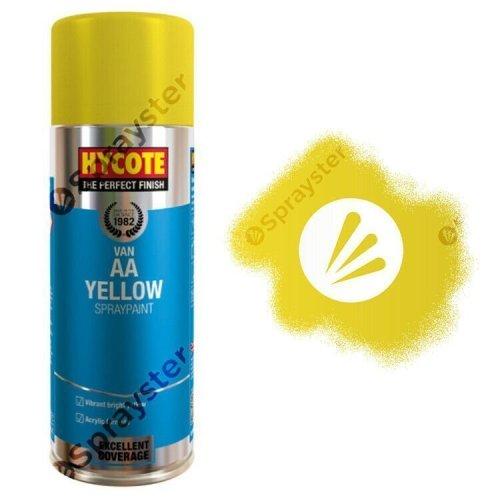 Hycote-AA-Van-Yellow-Gloss-Spray-Paint-Aerosol-Auto-Multi-Purpose-400ml-XUK480-333199079322