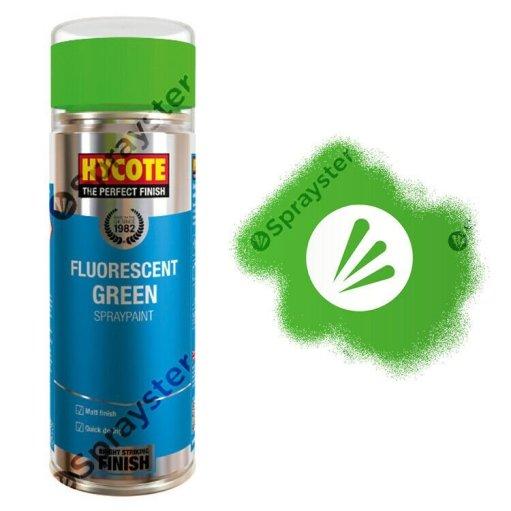 Hycote-Green-Fluorescent-Neon-Matt-Spray-Paint-Multi-Purpose-400ml-XUK469-372668680153