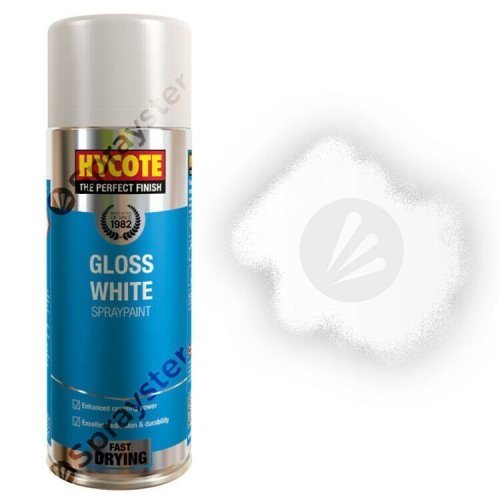 Hycote-White-Gloss-Spray-Paint-Aerosol-Auto-Car-Multi-Purpose-400ml-XUK032-372667366408