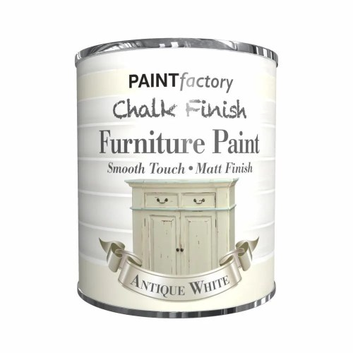 Paint-Factory-Chalk-Chalky-Furniture-Paint-650ml-Antique-White-Matt-372335126449
