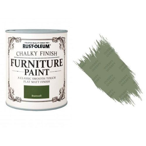 Rust-Oleum-Chalk-Chalky-Furniture-Paint-Chic-Shabby-125ml-Bramwell-Matt-371594510782