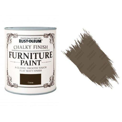 Rust-Oleum-Chalk-Chalky-Furniture-Paint-Chic-Shabby-125ml-Cocoa-Matt-331825010101