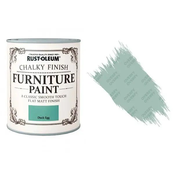 Rust-Oleum-Chalk-Chalky-Furniture-Paint-Chic-Shabby-125ml-Duck-Egg-Matt-371594510789