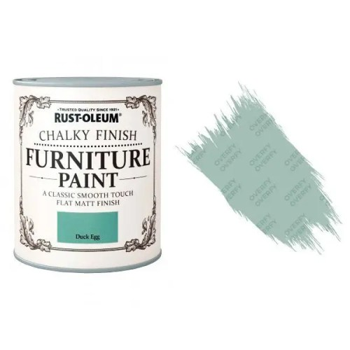 Rust-Oleum-Chalk-Chalky-Furniture-Paint-Chic-Shabby-125ml-Duck-Egg-Matt-371594510789