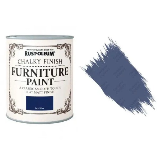 Rust-Oleum-Chalk-Chalky-Furniture-Paint-Chic-Shabby-125ml-Ink-Blue-Matt-331825010096
