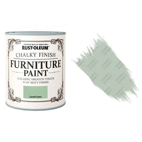 Rust-Oleum-Chalk-Chalky-Furniture-Paint-Chic-Shabby-125ml-Laurel-Green-Matt-331825010105