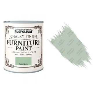 Rust-Oleum-Chalk-Chalky-Furniture-Paint-Chic-Shabby-125ml-Laurel-Green-Matt-331825010105