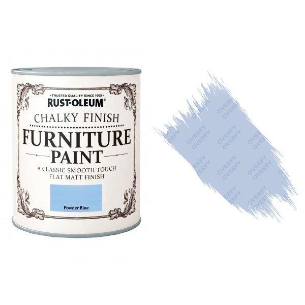 Rust-Oleum-Chalk-Chalky-Furniture-Paint-Chic-Shabby-125ml-Powder-Blue-Matt-391428357611