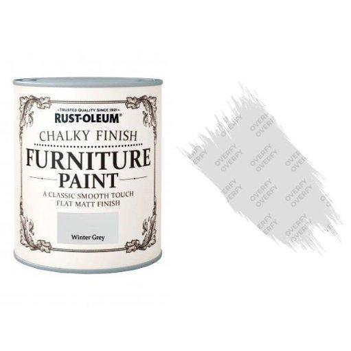Rust-Oleum-Chalk-Chalky-Furniture-Paint-Chic-Shabby-125ml-Winter-Grey-Matt-331825010103