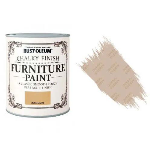 Rust-Oleum-Chalk-Chalky-Furniture-Paint-Chic-Shabby-750ml-Butterscotch-Matt-331825035120