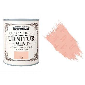 Rust-Oleum-Chalk-Chalky-Furniture-Paint-Chic-Shabby-750ml-Coral-Matt-371594535329