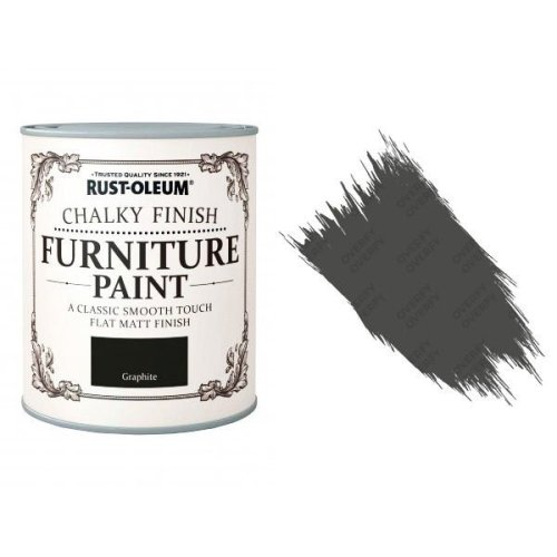 Rust-Oleum-Chalk-Chalky-Furniture-Paint-Chic-Shabby-750ml-Graphite-Matt-391428366085