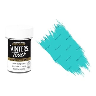 Rust-Oleum-Painters-Touch-Multi-Surface-Paint-Aqua-Blue-Gloss-20ml-Toy-Safe-332579962219