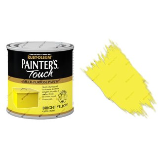 Rust-Oleum-Painters-Touch-Multi-Surface-Paint-Bright-Yellow-Gloss-250ml-Toy-Safe-372237507973