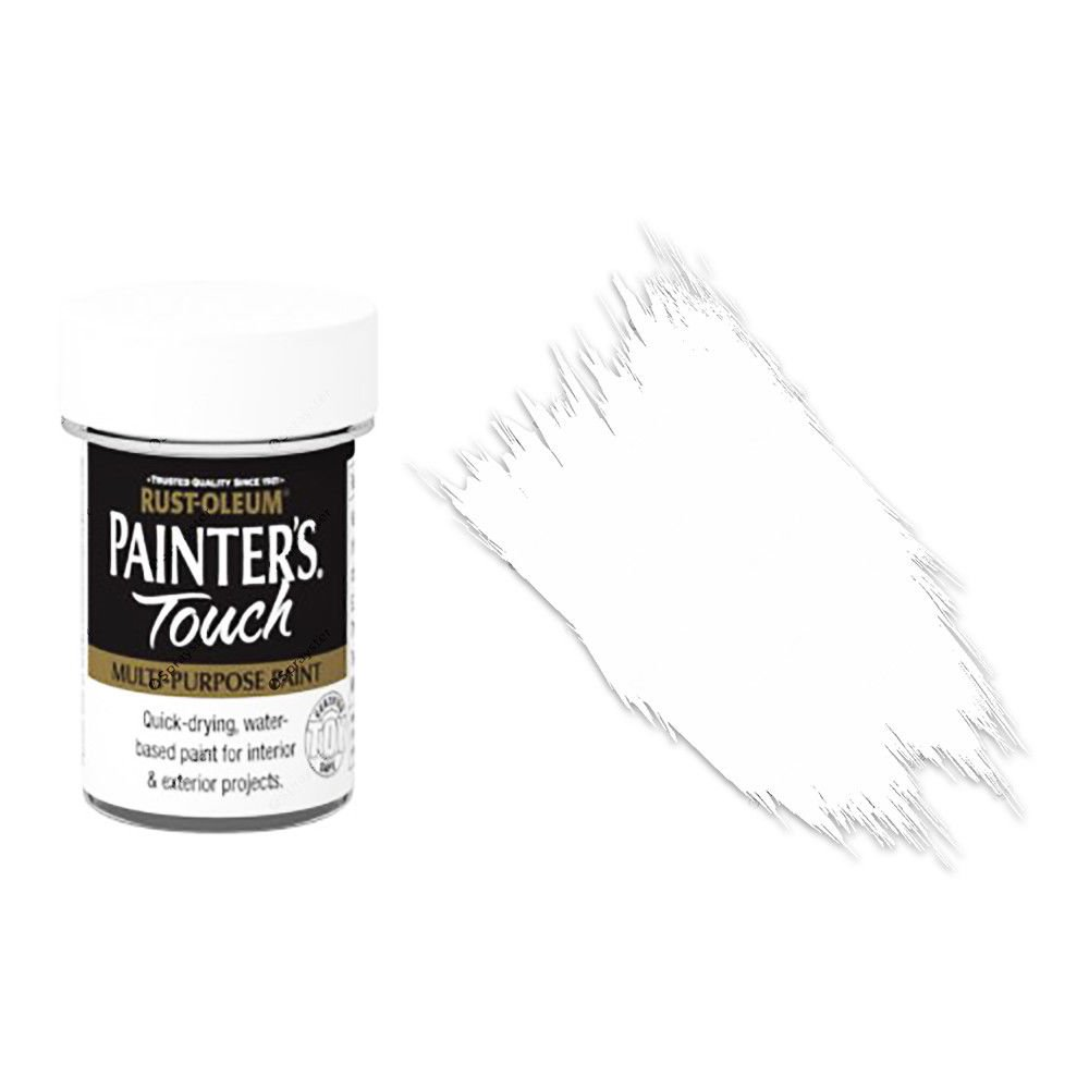 Rust-Oleum-Painters-Touch-Multi-Surface-Paint-White-Matt-20ml-Toy-Safe-372243288449