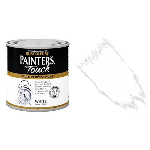 Rust-Oleum-Painters-Touch-Multi-Surface-Paint-White-Satin-250ml-Toy-Safe-332573157091