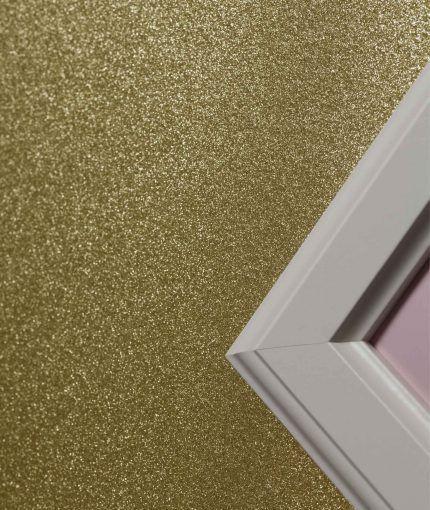 Rust Oleum Sparkling Gold Glitter Paint Feature Wall 1l