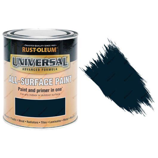 Rust-Oleum-Universal-All-Surface-Self-Primer-Brush-Paint-Gloss-Navy-Blue-250ml-372229925936