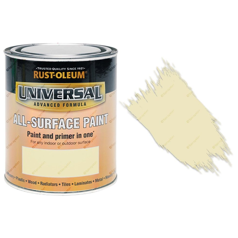Rust-Oleum-Universal-All-Surface-Self-Primer-Brush-Paint-Gloss-Real-Almond-250ml-391986702356