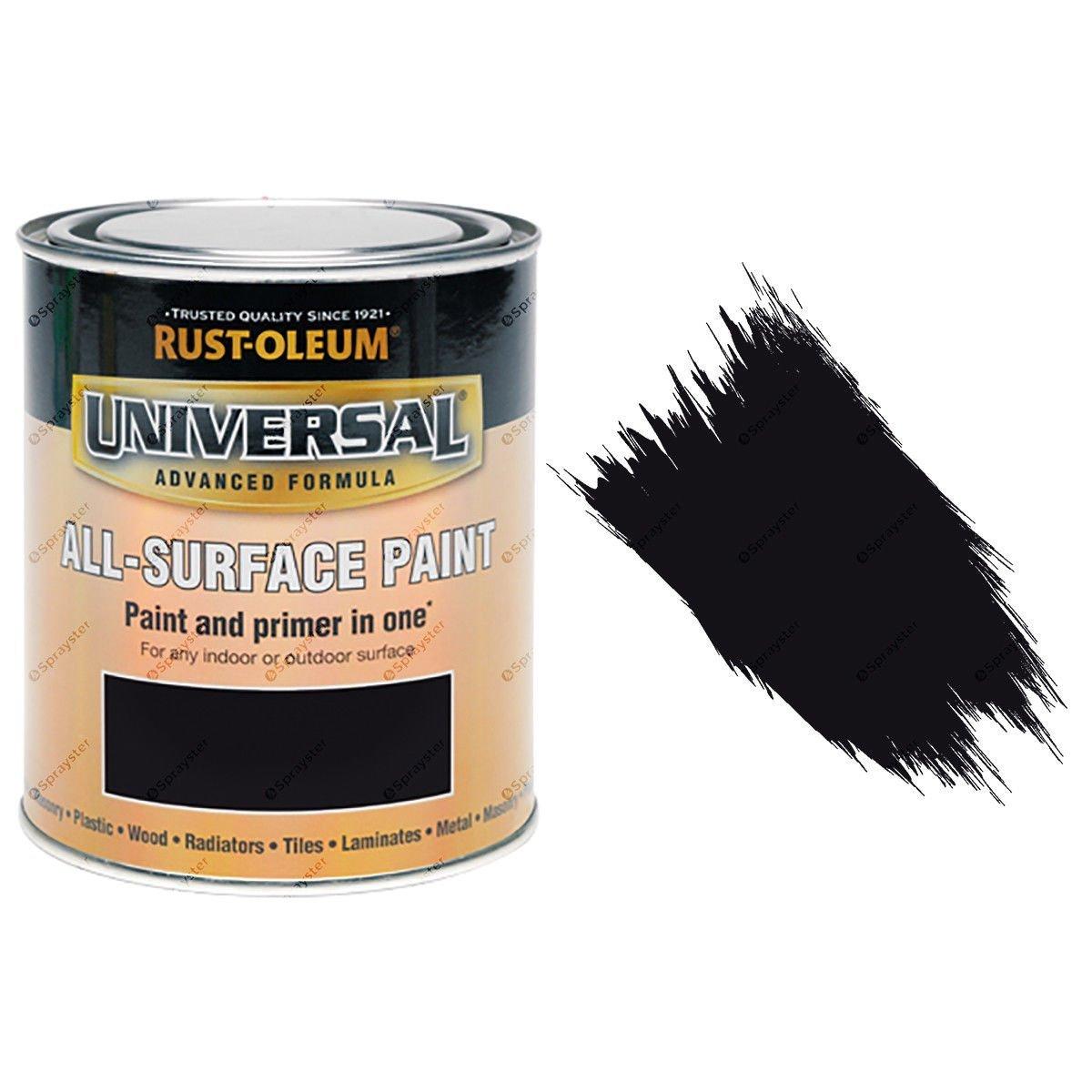 Rust-Oleum-Universal-All-Surface-Self-Primer-Brush-Paint-Matt-Black-250ml-372229925941