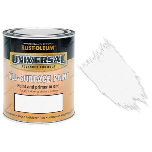 Rust-Oleum-Universal-All-Surface-Self-Primer-Brush-Paint-Matt-White-250ml-391986702352