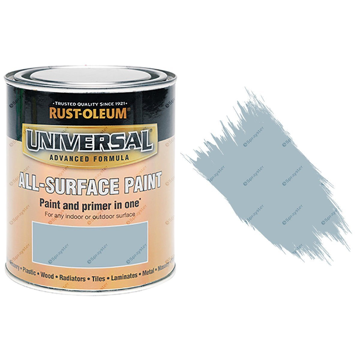 Rust-Oleum Universal Lagoon Blue Satin All-Surface Brush Paint 750ml