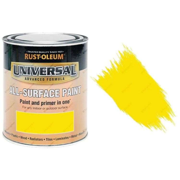 Rust-Oleum-Universal-All-Surface-Self-Primer-Paint-Gloss-Canary-Yellow-750ml-391986107746