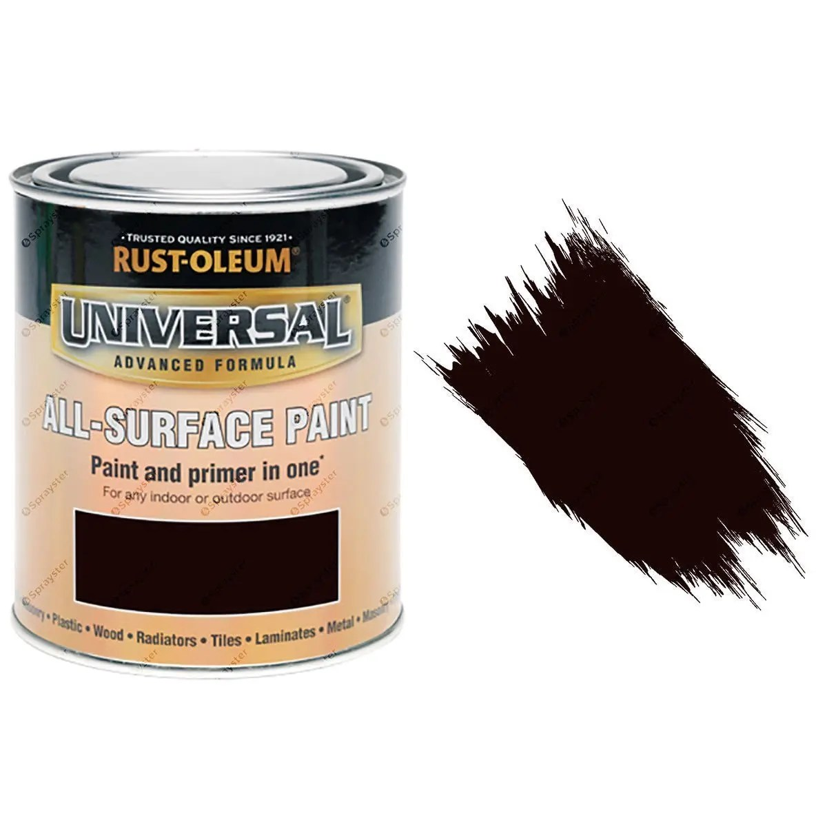Rust-Oleum Universal Espresso Brown Gloss All-Surface Brush Paint 250ml