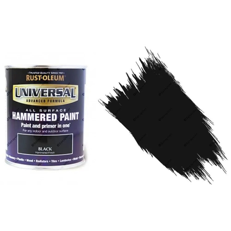 Rust-Oleum-Universal-All-Surface-Self-Primer-Paint-Hammered-Finish-Black-750ml-332563353686