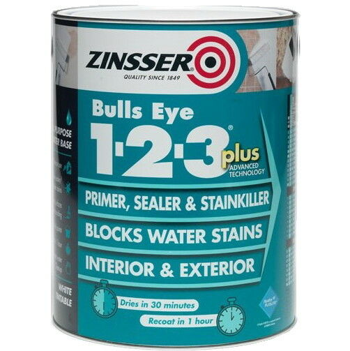 Zinsser Bulls Eye 123 Plus Primer Sealer Stain Block 2 5l