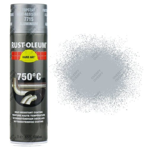 Rust-Oleum Aluminium Heat Resistant Spray Paint 750°C 500ml