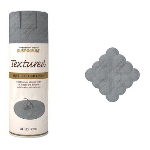 Rust Oleum Aged Iron Textured Spray Paint 400ml Sprayster