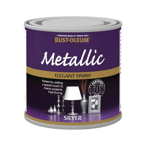 x1-Rust-Oleum-Multi-Purpose-Premium-Brush-Paint-Indoor-Outdoor-Metallic-Silver-332655424822