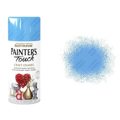 Rust-Oleum Tranquil Blue Gloss Spray Paint Painter's Touch Craft Enamel 150ml