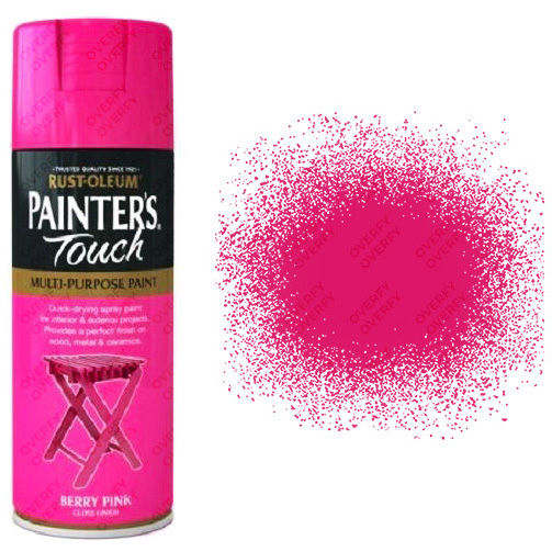 x1-Rust-Oleum-Painters-Touch-Multi-Purpose-Aerosol-Spray-Paint-Berry-Pink-Gloss-371555474575