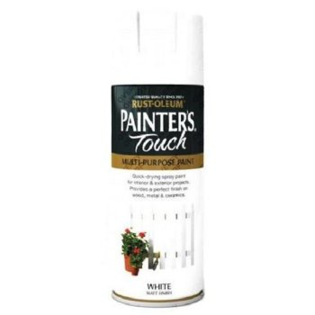 Rust-Oleum White Matt Spray Paint 400ml Painter's Touch