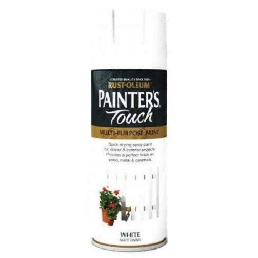Rust-Oleum White Matt Spray Paint 400ml Painter's Touch